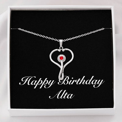 Happy Birthday Alta v2 - Stethoscope Necklace