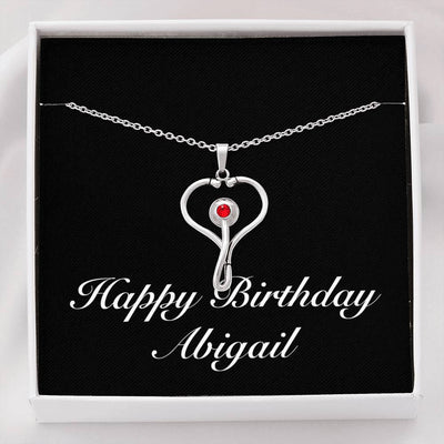Happy Birthday Abigail v2 - Stethoscope Necklace