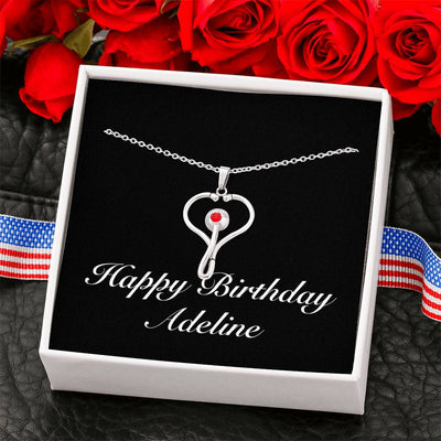 Happy Birthday Adeline v2 - Stethoscope Necklace