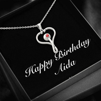Happy Birthday Aida v2 - Stethoscope Necklace