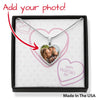 Happy Valentine's Day - Candy Hearts - Buyer Upload Heart Pendant Luxury Necklace