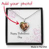 Happy Valentine's Day - Chalk Hearts - Buyer Upload Heart Pendant Luxury Necklace