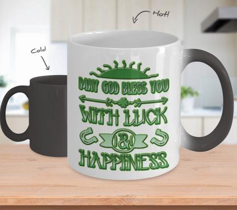 Luck And Happiness Blessing - Color Changing Mug - Unique Gifts Store