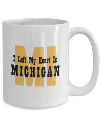 Heart In Michigan - 15oz Mug