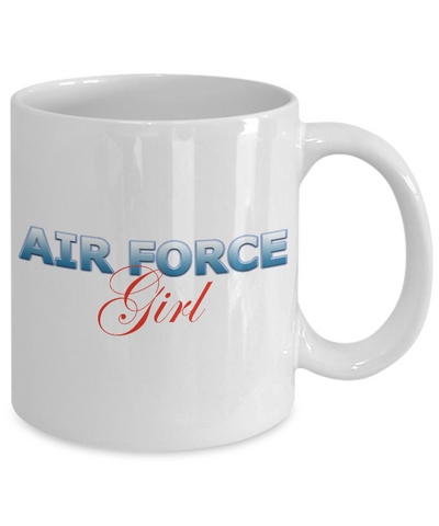 Air Force Girl - 11oz Mug v2 - Unique Gifts Store
