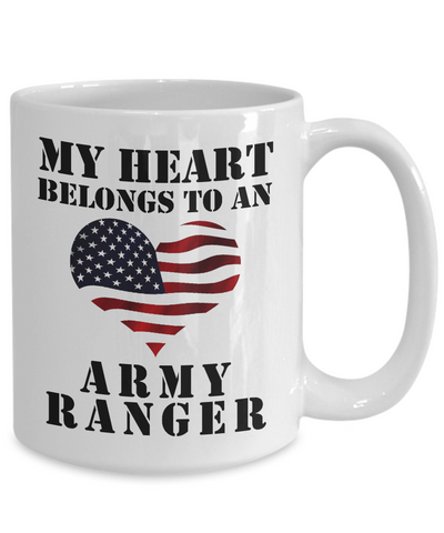 My Heart Belongs To An Army Ranger - 15oz Mug
