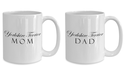Yorkshire Terrier Mom & Dad - Set Of 2 15oz Mugs