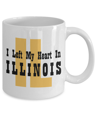 Heart In Illinois - 11oz Mug - Unique Gifts Store