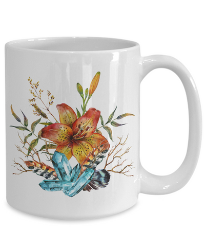 Tiger Lily Bouquet - 15oz Mug