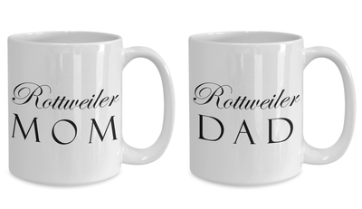 Rottweiler Mom & Dad - Set Of 2 15oz Mugs