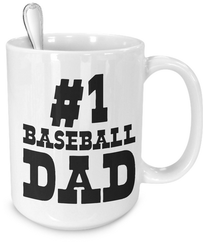 #1 Baseball Dad - 15oz Mug - Unique Gifts Store