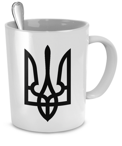 Tryzub (Black) - Mug - Unique Gifts Store