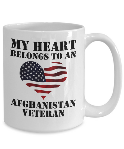 My Heart Belongs To An Afghanistan Veteran - 15oz Mug