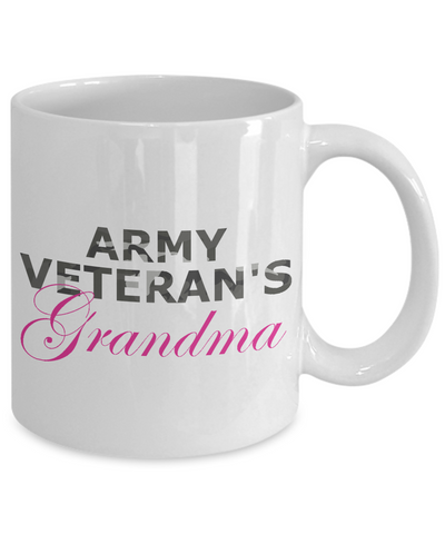 Army Veteran's Grandma - 11oz Mug - Unique Gifts Store