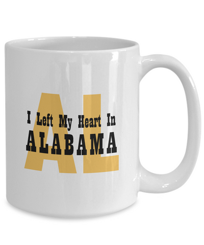 Heart In Alabama - 15oz Mug - Unique Gifts Store