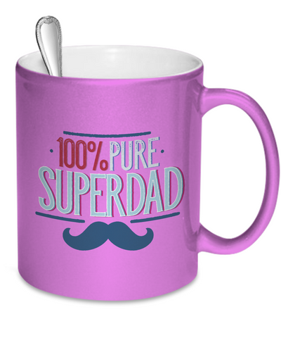 Pure Super Dad - 11oz Metallic Mug - Unique Gifts Store