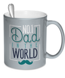 No 1 Dad In The World - 11oz Metallic Mug - Unique Gifts Store
