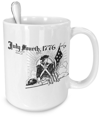 July Fourth 1776 - 15oz Mug - Unique Gifts Store