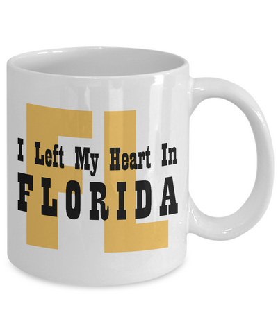 Heart In Florida - 11oz Mug - Unique Gifts Store