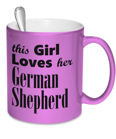German Shepherd - Metallic Mug - Unique Gifts Store