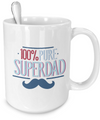 Pure Super Dad v3 - 15oz Mug - Unique Gifts Store