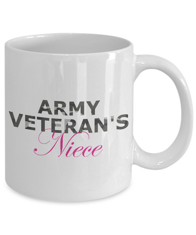 Army Veteran's Niece - 11oz Mug - Unique Gifts Store