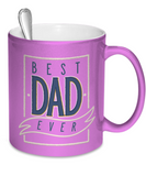 Best Dad Ever - 11oz Metallic Mug - Unique Gifts Store