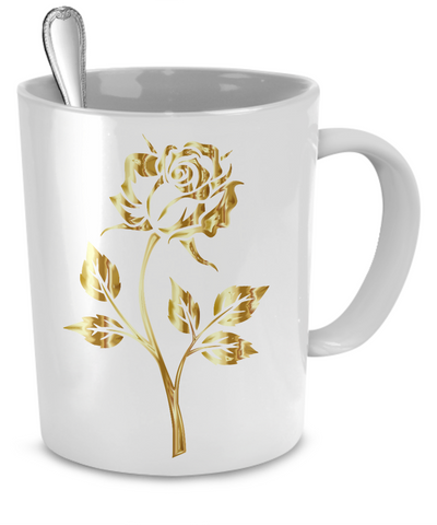 Gold Rose - 11oz Mug - Unique Gifts Store