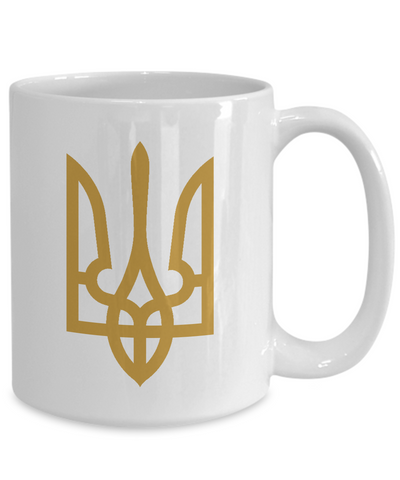 Tryzub (Gold) - 15oz Mug - Unique Gifts Store