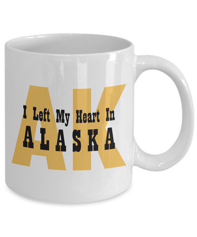 Heart In Alaska - 11oz Mug - Unique Gifts Store