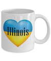 Ukrainian In Illinois - 11oz Mug - Unique Gifts Store