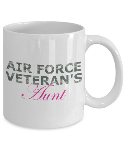 Air Force Veteran's Aunt - 11oz Mug - Unique Gifts Store
