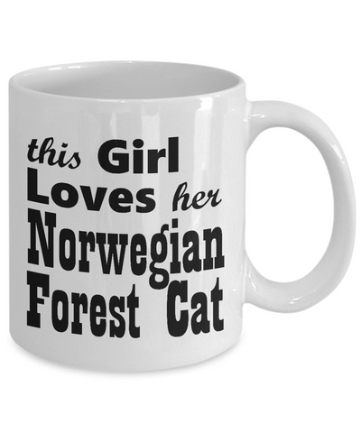 Norwegian Forest Cat - 11oz Mug