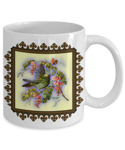 Bird And Flowers - 11oz Mug - Unique Gifts Store