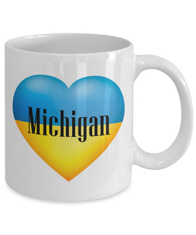Ukrainian In Michigan - 11oz Mug - Unique Gifts Store