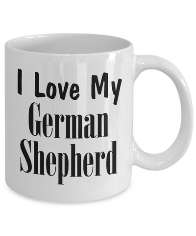 Love My German Shepherd - 11oz Mug - Unique Gifts Store