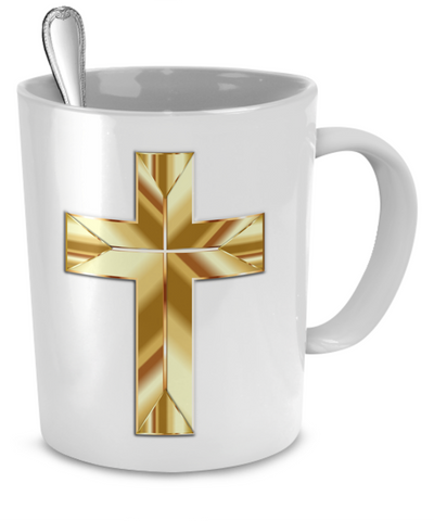 Golden Cross - 11oz Mug - Unique Gifts Store