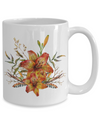 Tiger Lily Bouquet v2 - 15oz Mug - Unique Gifts Store