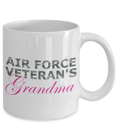 Air Force Veteran's Grandma - 11oz Mug - Unique Gifts Store