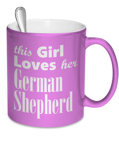 German Shepherd Dog - Metallic Mug - Unique Gifts Store