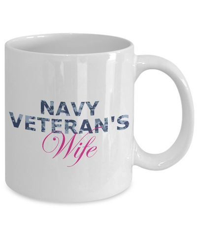 Navy Veteran's Wife - 11oz Mug - Unique Gifts Store