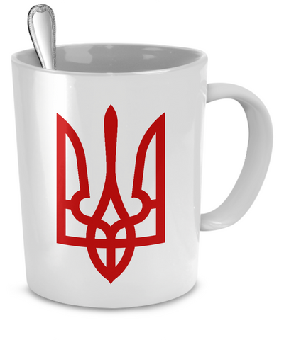 Tryzub (Red) - Mug - Unique Gifts Store