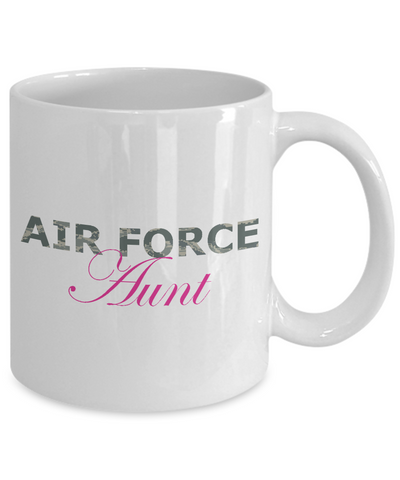 Air Force Aunt - 11oz Mug - Unique Gifts Store