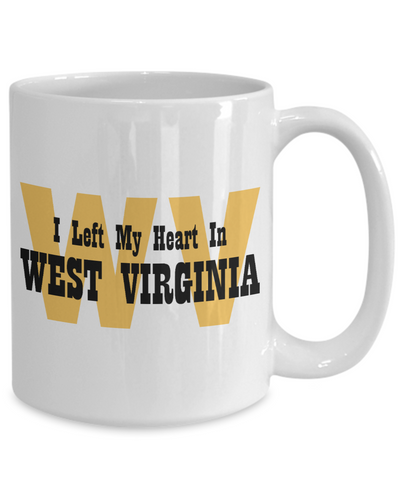 Heart In West Virginia - 15oz Mug