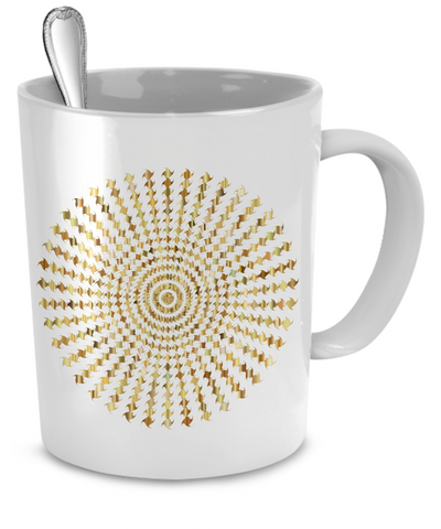 Golden Blazing Sun - 11oz Mug - Unique Gifts Store