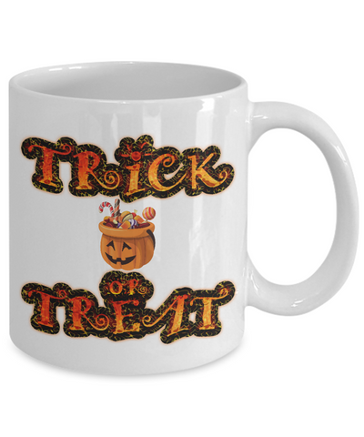 Halloween Trick Or Treat - 11oz Mug - Unique Gifts Store