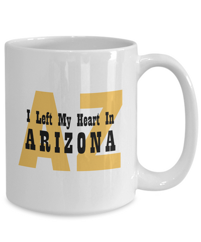 Heart In Arizona - 15oz Mug