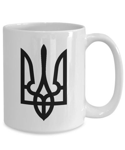 Tryzub (Black) - 15oz Mug - Unique Gifts Store