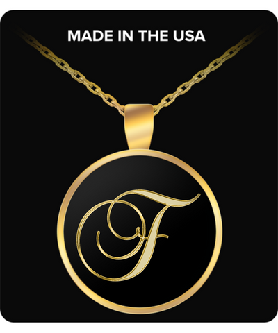 Initial F - Gold Plated Necklace