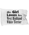 West Highland White Terrier - Pillow Case - Unique Gifts Store